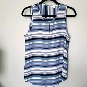 Violet & Claire striped sleeveless blouse